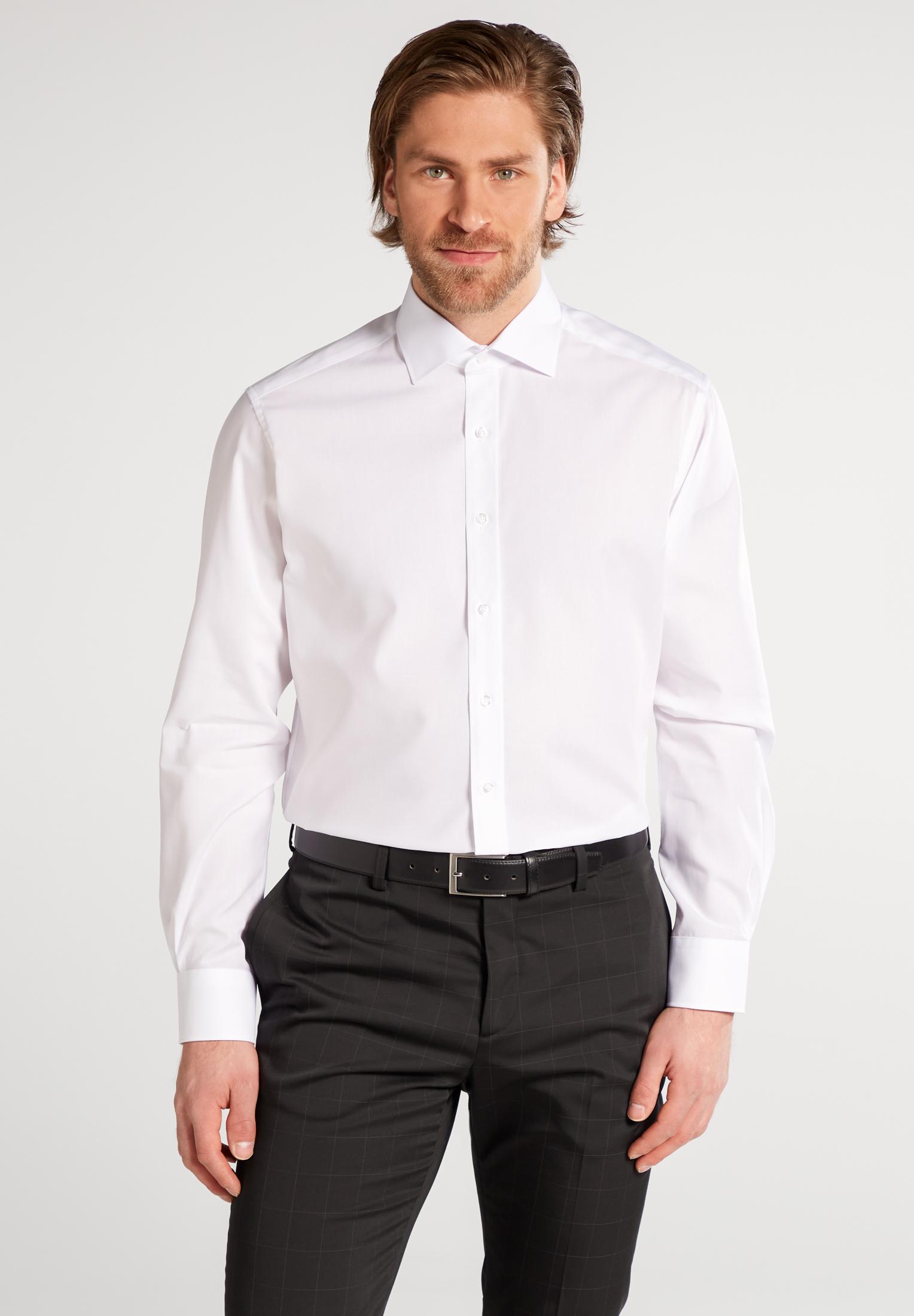 ETERNA Hemd Uni Popeline ohne Tasche Modern Fit