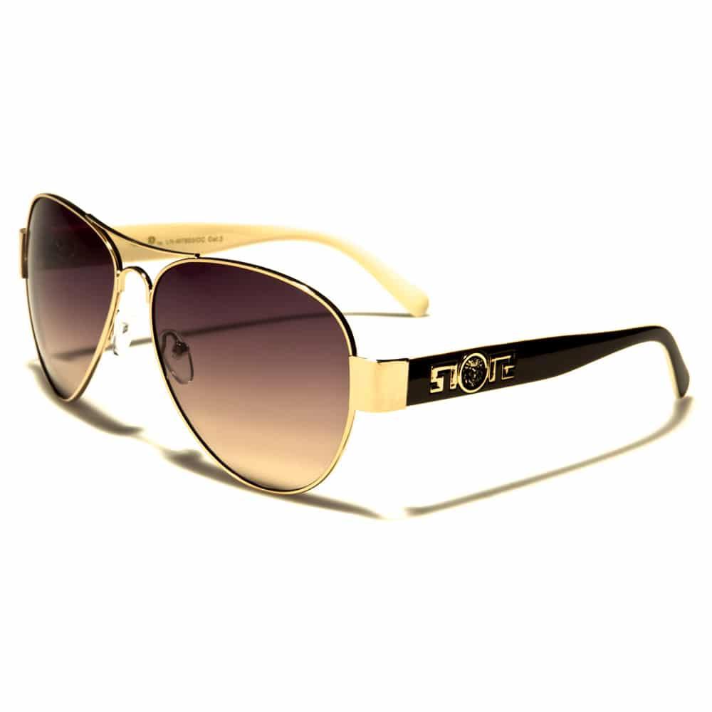 Kleo - Damen Pilotenbrille - Violett