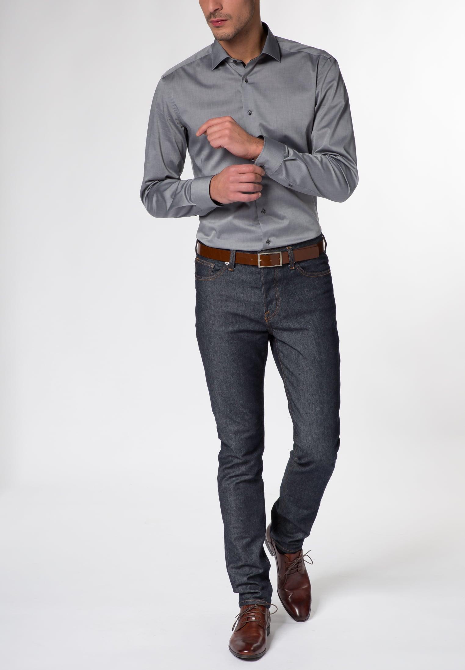 Hemden Uni Strech – Chambray Strech Slim Fit