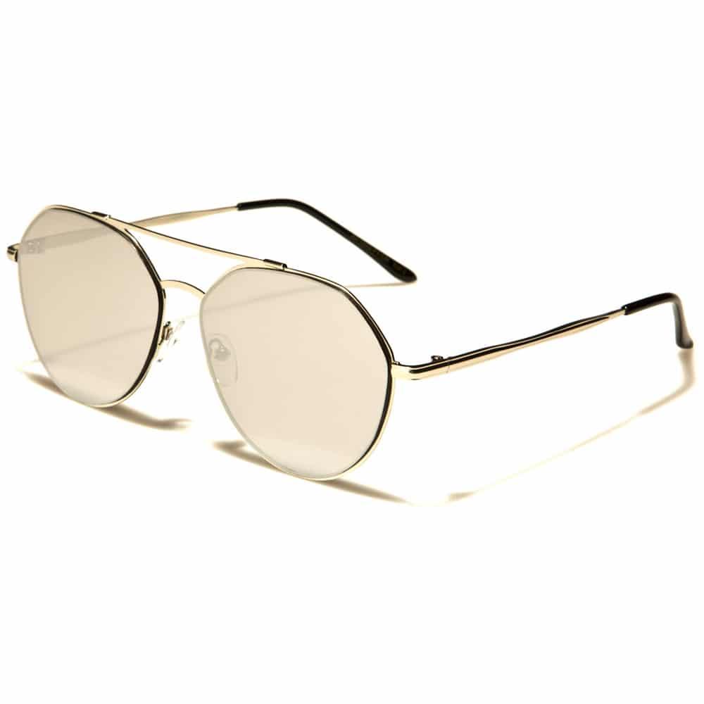 MU Classic - Damen, Herren Flache Pilotenbrille - Rosa