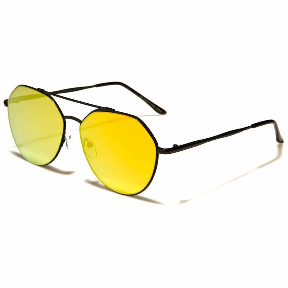 MU Classic - Damen, Herren Flache Pilotenbrille
