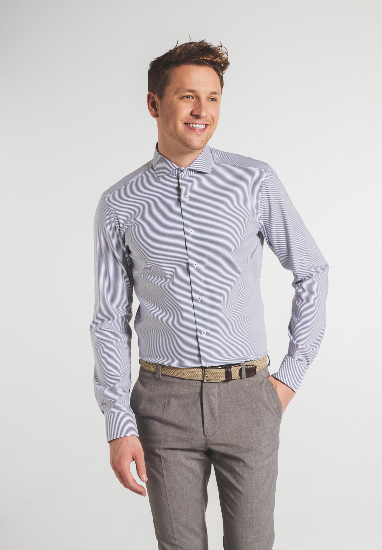Hemden Streifen Twill Slim Fit