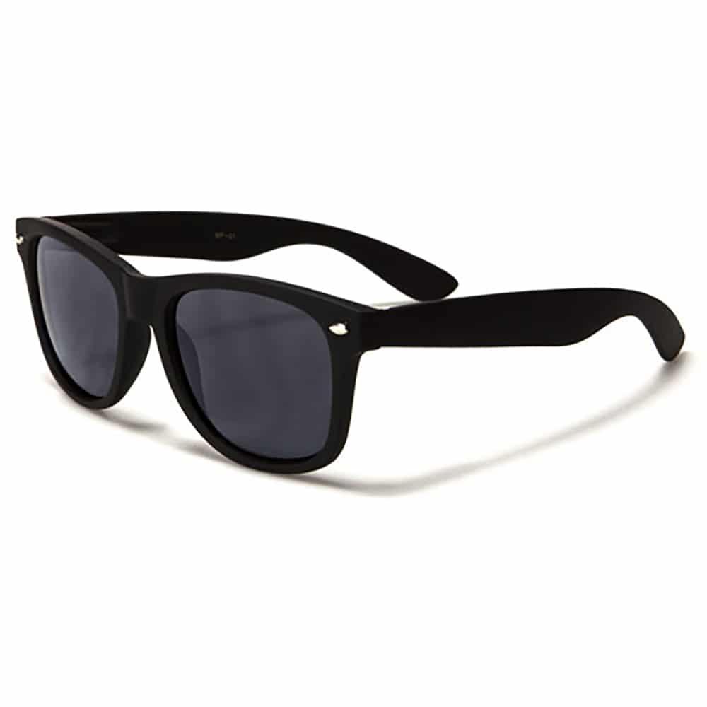 Herren / Damen Sonnenbrille – Retro-Style – Schwarz