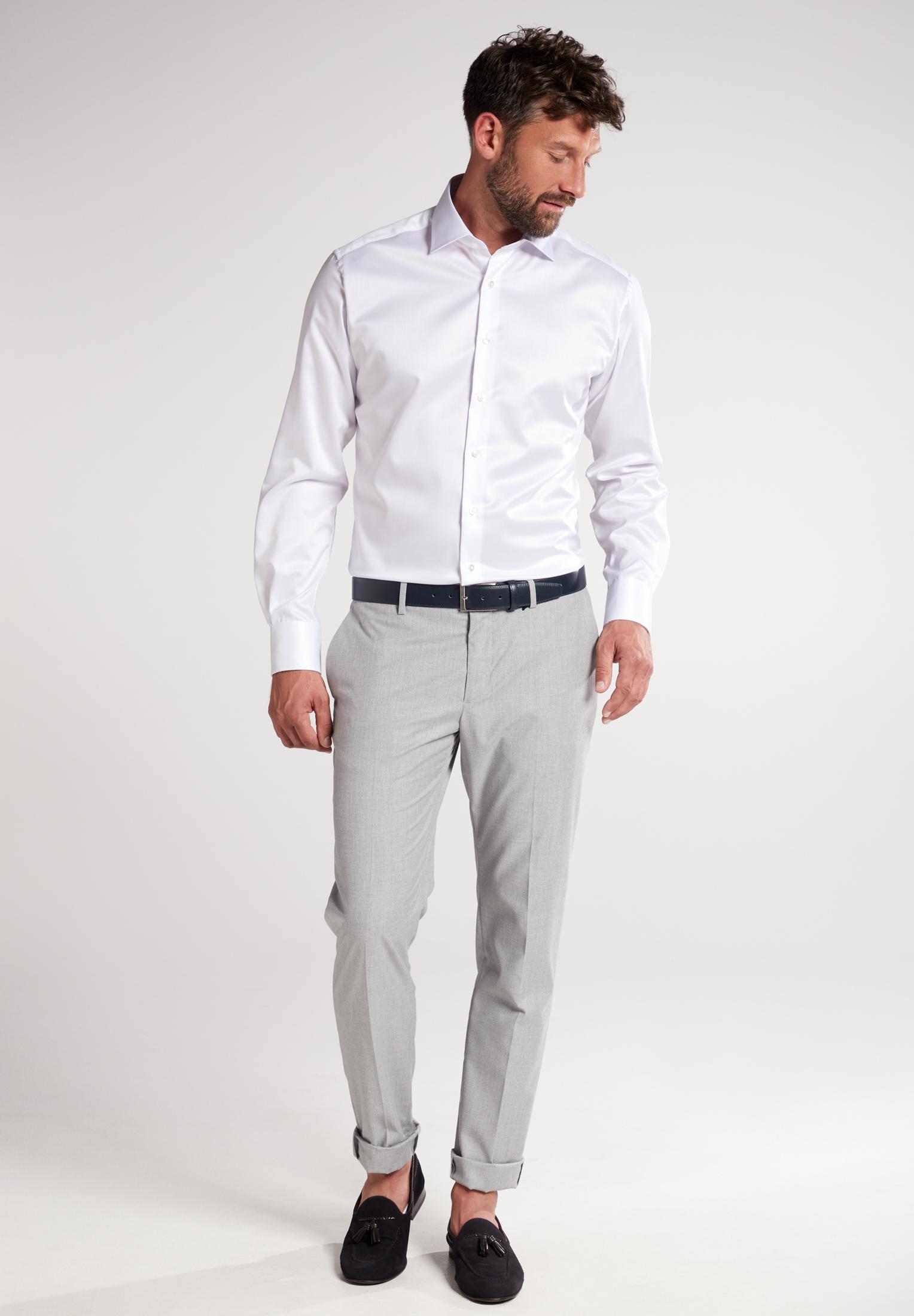 ETERNA Langarm Hemd einfarbig Twill Modern Fit