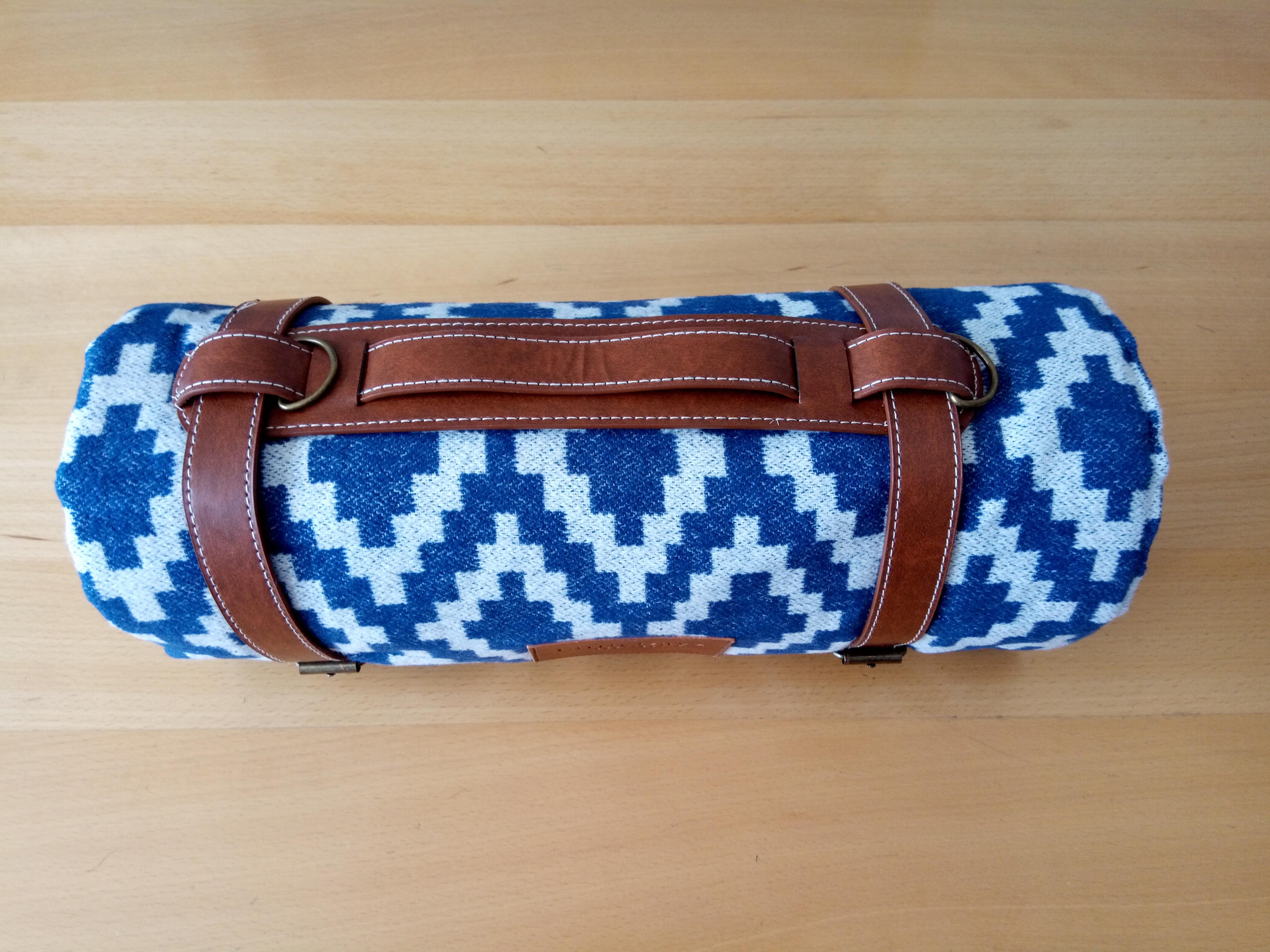 Picknick-Decke blau