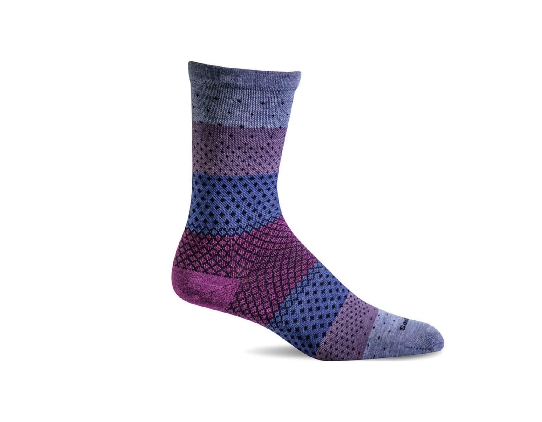Plantar Ease Damen - Fersensporn-Socken - Violett